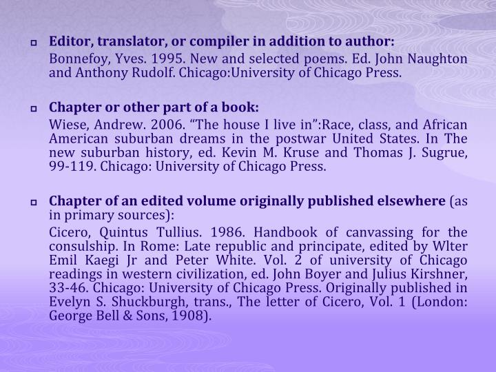 Editor, translator, or compiler in addition to author: