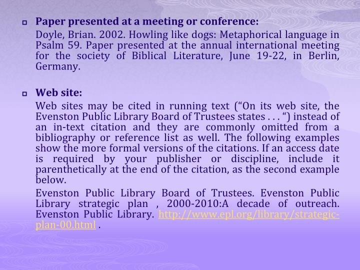 Paper presented at a meeting or conference: