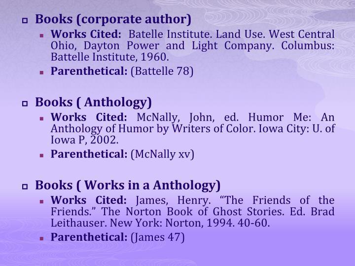 Books (corporate author)