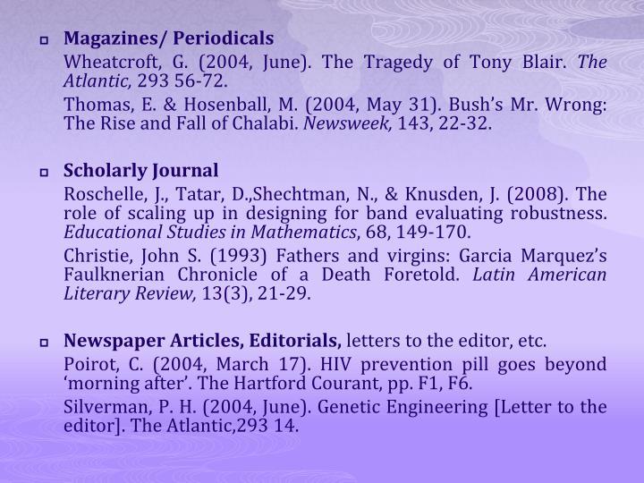 Magazines/ Periodicals