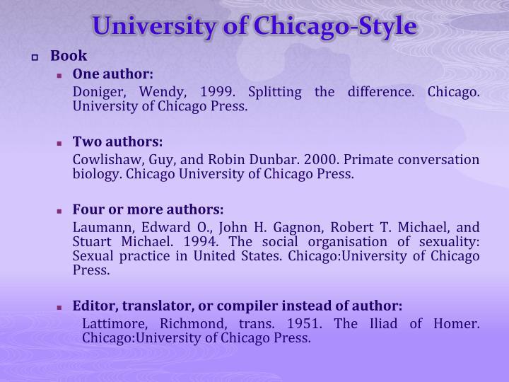 University of Chicago-Style