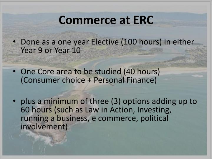 Commerce at ERC