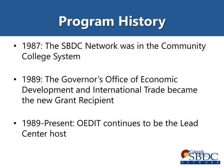 Program History