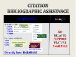 citation bibliographic assistance