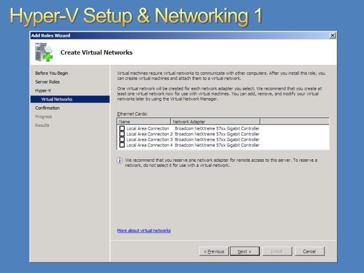 Hyper-V Setup & Networking 1