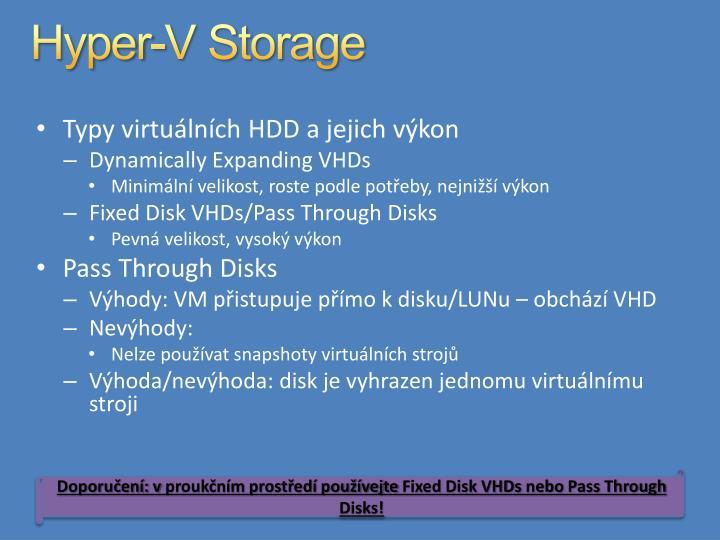 Hyper-V Storage