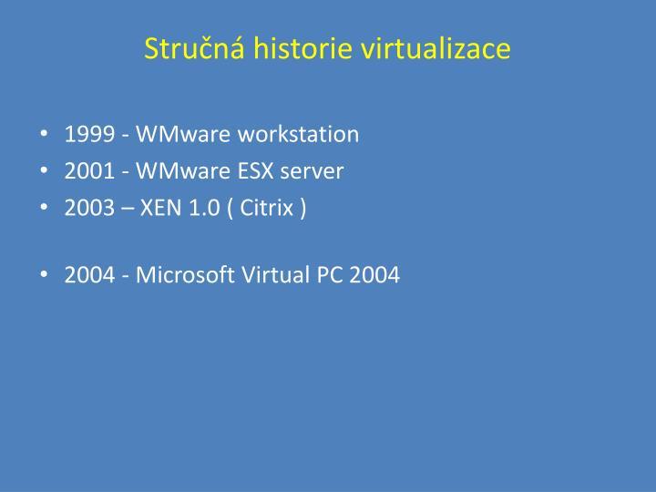 Stručná historie virtualizace