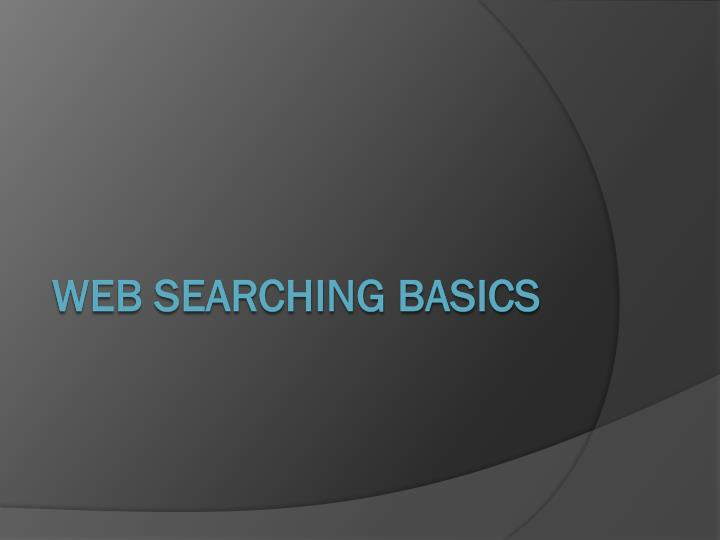 Web searching basics