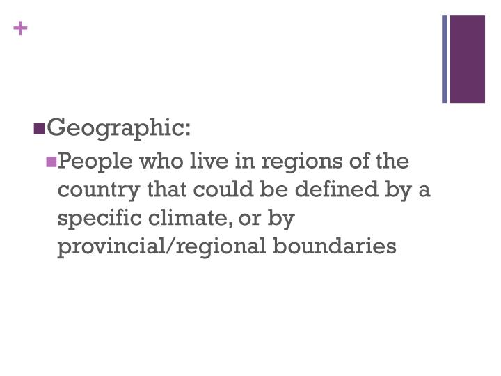 Geographic: