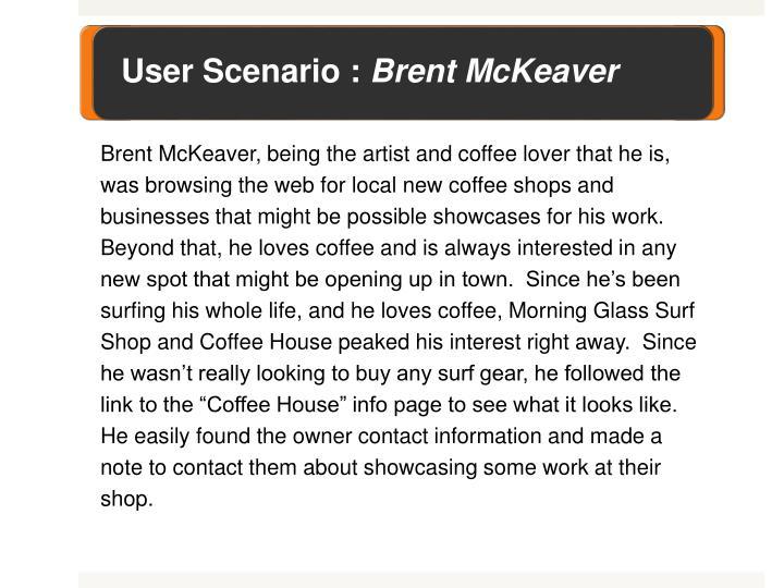 User Scenario :