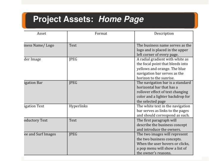 Project Assets: