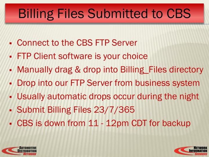 Connect to the CBS FTP Server