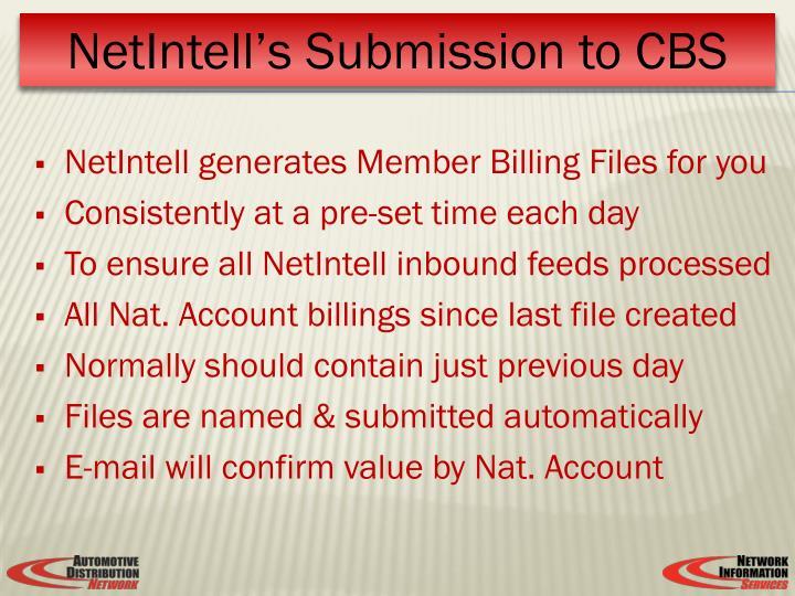 NetIntell generates Member Billing Files for you
