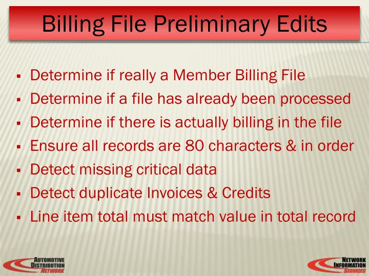 Determine if really a Member Billing File