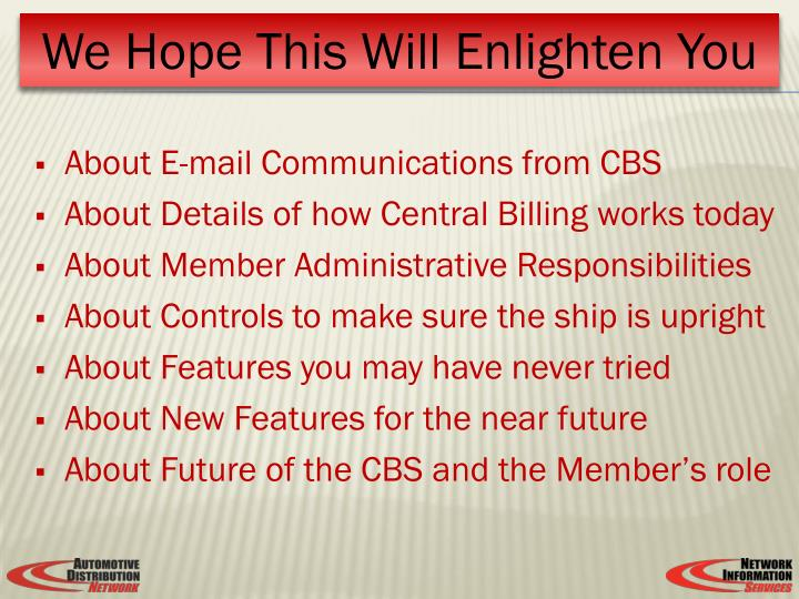 About E-mail Communications from CBS