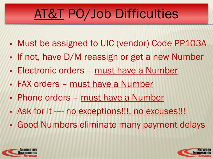 Must be assigned to UIC (vendor) Code PP103A