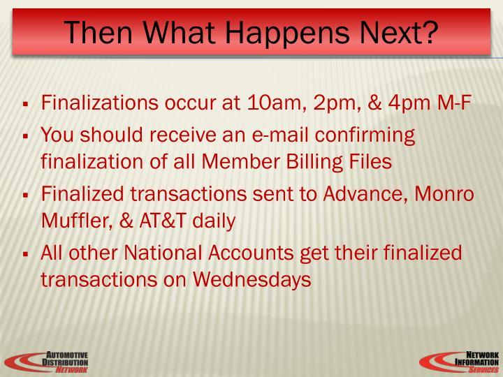 Finalizations occur at 10am, 2pm, & 4pm M-F