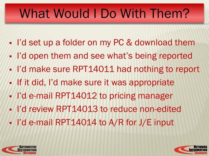 I'd set up a folder on my PC & download them