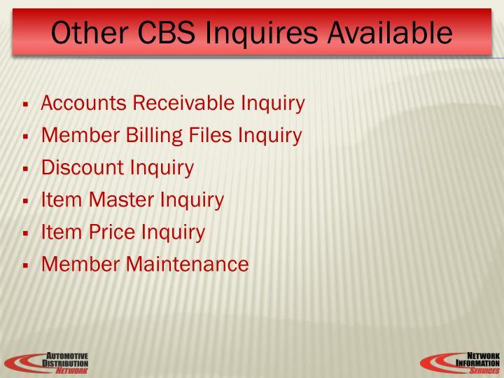 Accounts Receivable Inquiry