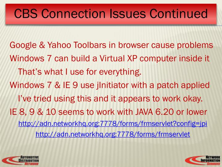 Google & Yahoo Toolbars in browser cause problems