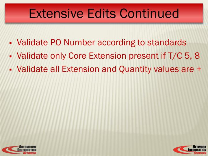 Validate PO Number according to standards