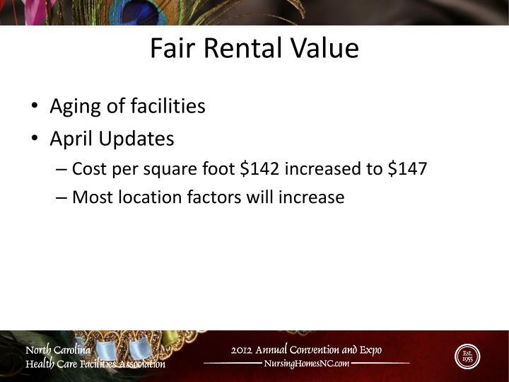Fair Rental Value