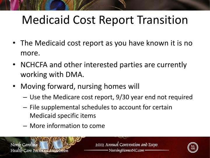 The Medicaid cost report as you have known it is no more.