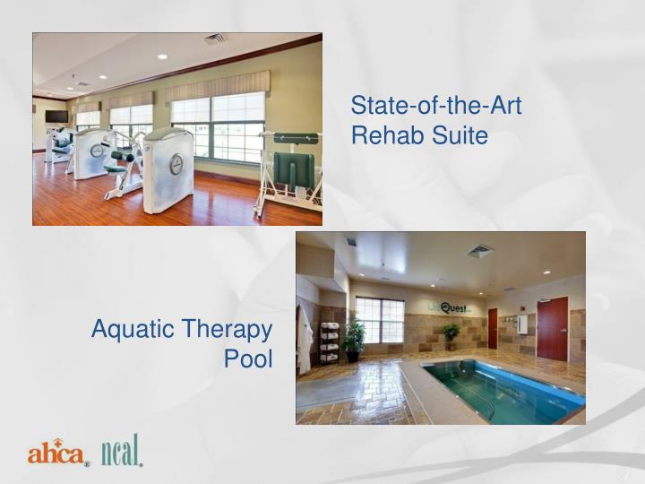 State-of-the-Art Rehab Suite