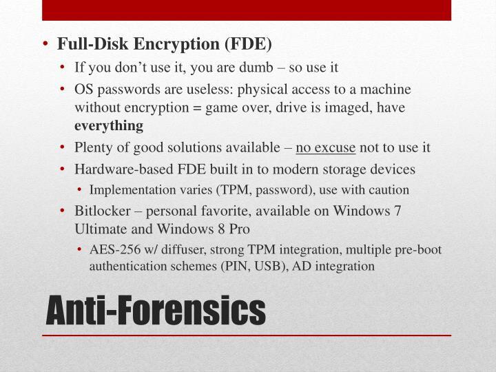 Full-Disk Encryption (FDE)