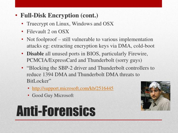 Full-Disk Encryption (cont.)
