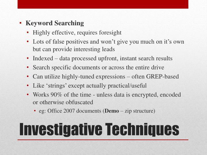 Keyword Searching
