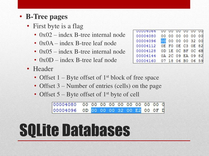 B-Tree pages