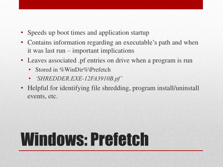 Speeds up boot times and application startup