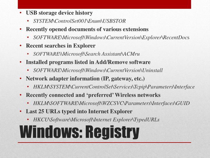 USB storage device history