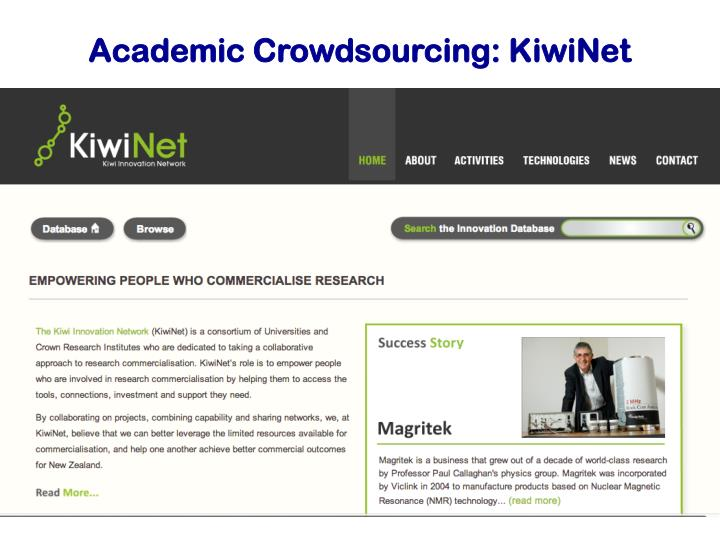 Academic Crowdsourcing: