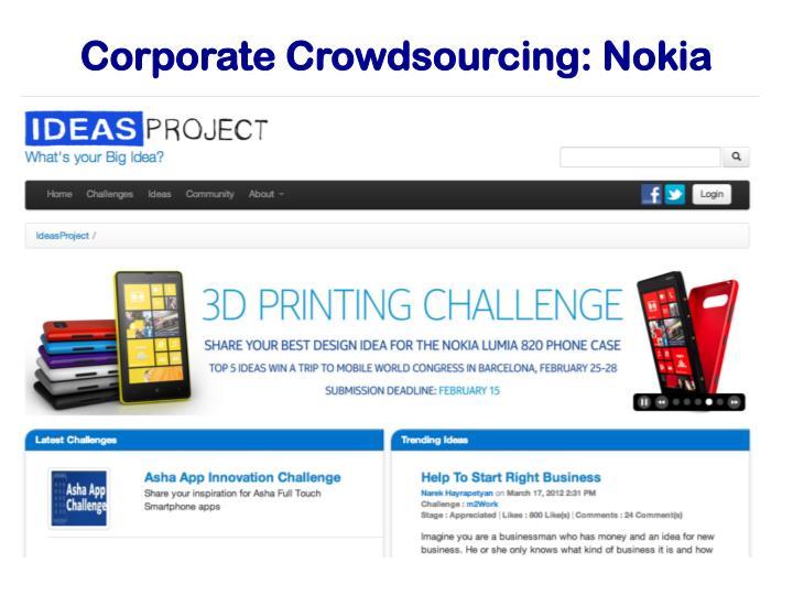 Corporate Crowdsourcing: Nokia