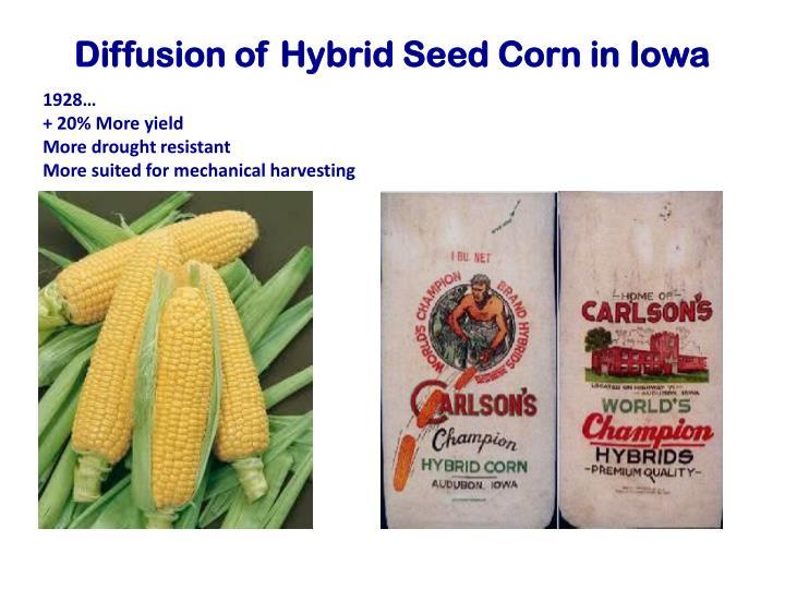 Diffusion of Hybrid Seed Corn in Iowa