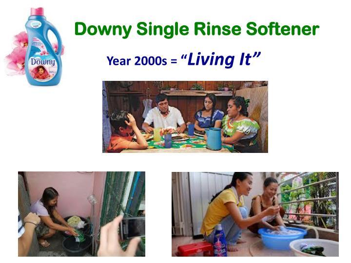 Downy Single Rinse Softener