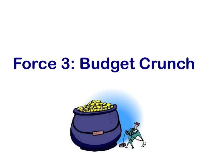 Force 3: Budget Crunch