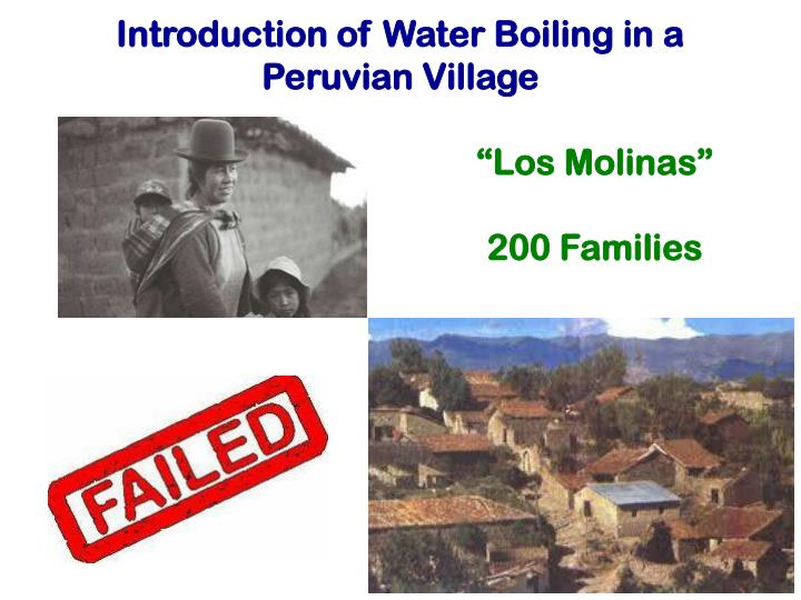 Introduction of Water Boiling in a Peruvian Village