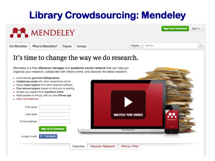 Library Crowdsourcing: