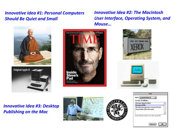 Innovative Idea #2: The Macintosh User Interface, Operating System, and Mouse…