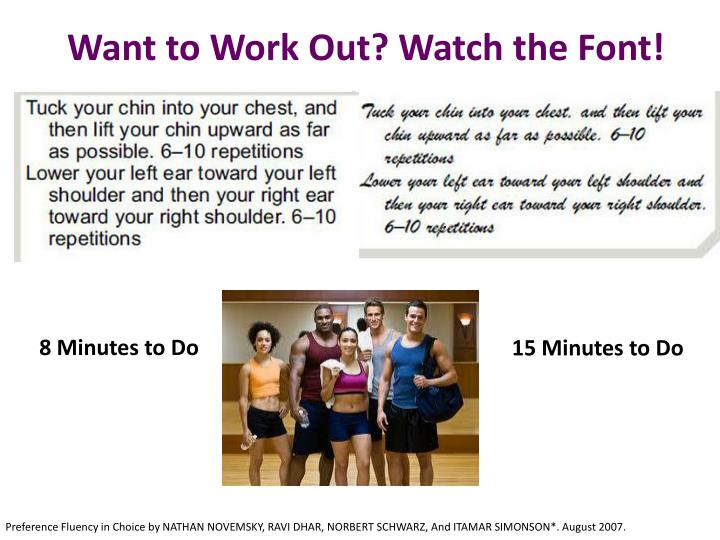 Want to Work Out? Watch the Font!