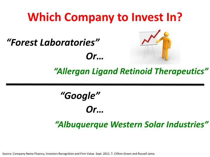 Which Company to Invest In?