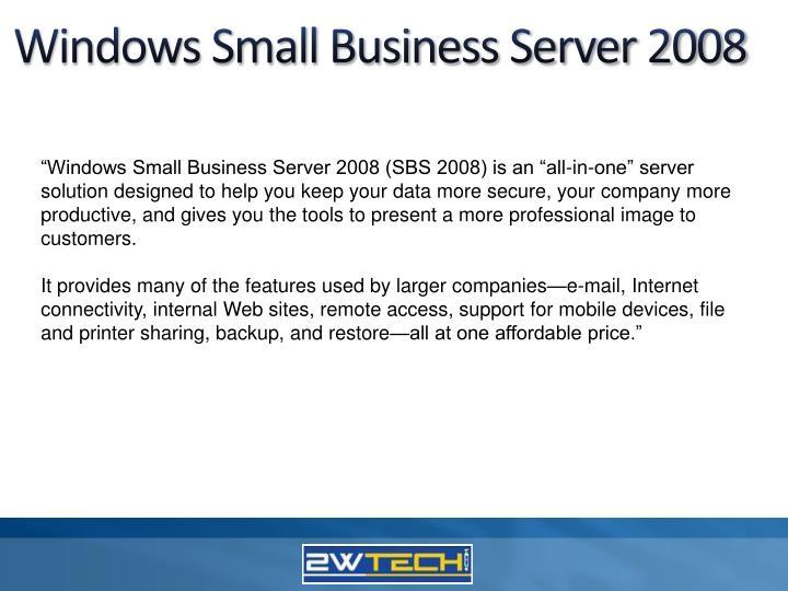 Windows Small Business Server 2008