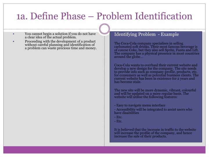 1a. Define Phase – Problem Identification
