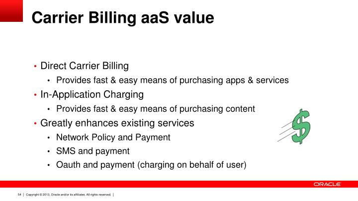 Carrier Billing aaS value