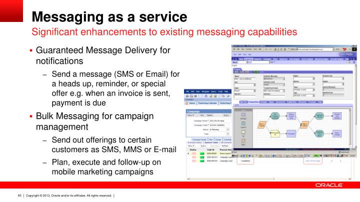 Messaging as a service
