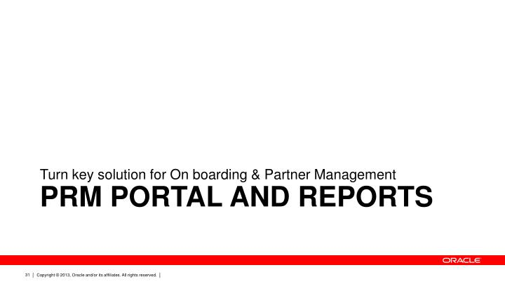 Turn key solution for On boarding & Partner Management