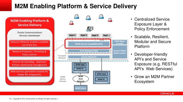 M2M Enabling Platform & Service Delivery